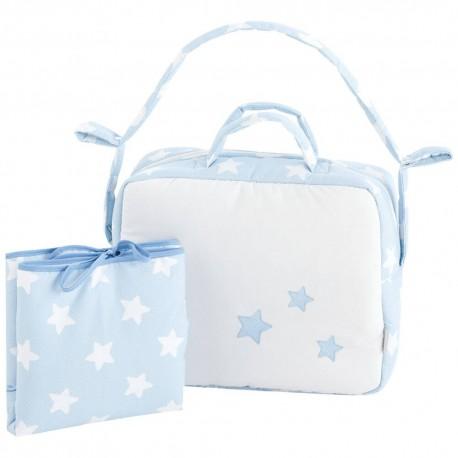 bolsos para bebés y vestidor Nova Blanco-Azul