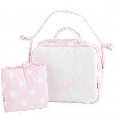 bolsos de bebé y vestidor Nova Blanco-Rosa