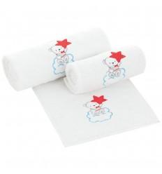 Set toallas bordadas para bebé Nube