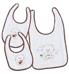Set baberos bebés Minou