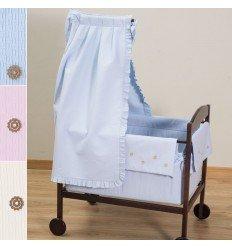 Minicuna Moises Para Bebés Con Dosel Colección AC34