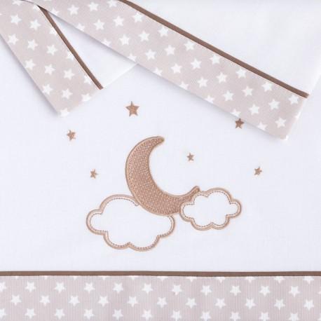 Sábanas Cuna Pekebaby Moon Lino