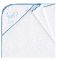 toallas para bebés con capucha Pekebaby Moon Azul