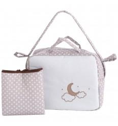 bolsos de bebé y vestidor Pekebaby Moon Lino