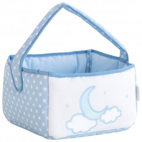 cestas de bebé colonias Pekebaby Moon Azul