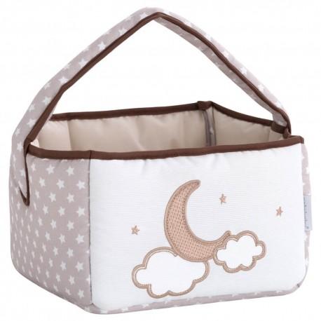 cesta botellero bebé Pekebaby Moon Lino