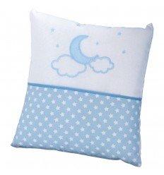 cojines decorados cuna Pekebaby Moon Azul