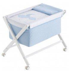 moises bebé minicuna Pekebaby Moon Azul