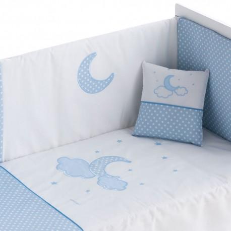 Edredones de cuna Pekebaby Moon Azul