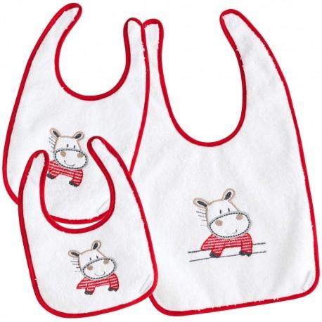 Set baberos para bebé Pekebaby Hippo