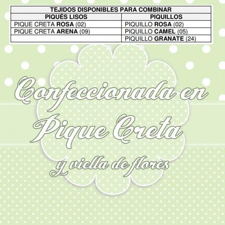 Funda Silla y Capota Inglesina Clásica Flores y Piqué Arena SweetSpring