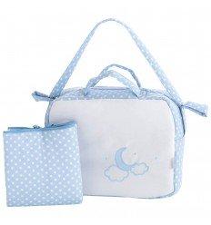 bolsos para carritos de bebé y vestidor MyNubeLuna Celeste