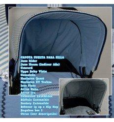 Capota Silla Rider, Uppa Baby Vista, Quest, Nano, Muum, Bugaboo, BebeCar, Bee, Concord, Iru MyBaby BlueGrey