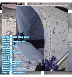 Capota Silla Quest, Nano, Iru, Rider, Bee, Concord, Uppa Baby Vista, Muum, Bugaboo, BebeCar MyCuore BluePinkBeige