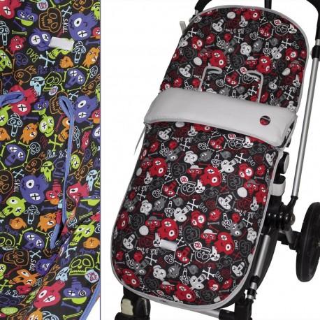 Saco Paseo Silla Prenatal, Quinny, Red Castle, Etc. MyCalaveras Blue / Red