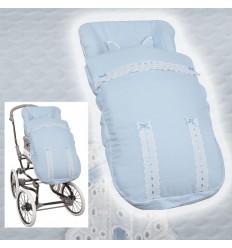 Saco Universal Silla BebeCar e Inglesina (sillas anchas) MyClassic Celeste
