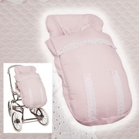 Sacos BebeCar y Inglesina (sillas anchas) MyClassic Rosa Bebé