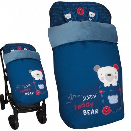 Saco de silla de paseo bebé Universal MyLittle Teddy Bear