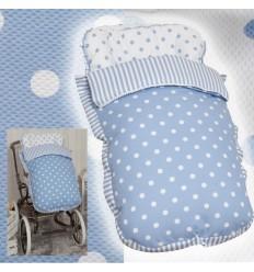 Saco de silla Para el frío Inglesina, Bebecar, etc. MyCarrusel Blue