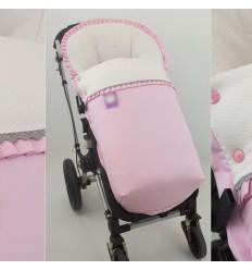 Saco Silla viella beige de minitopitos en rosa y piqué rosa