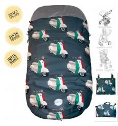 Sacos Para Sillita Moto Bandera Italiana Fondo Gris