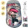 Saco De Pasear Para Sillita Niña Skater Con detalles en Fucsia