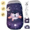 Saco Silla Paseo Color Morado Estampado Buho con Estrellas y Luna