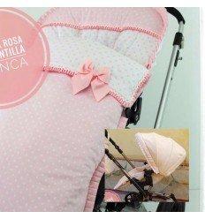 capota extensible y saco silla primavera pies plastificados y lazo embozo