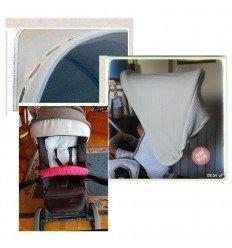 capota muum y cubrebarra plastificado, pique arena, cinta blanca, pasacinta rosa