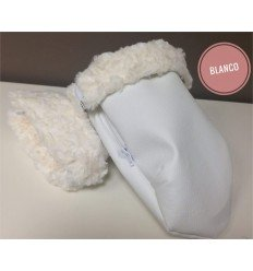 Manoplas Polipiel Blancas Cochecito o silla (Asalvo, Baby Ace, Etc)