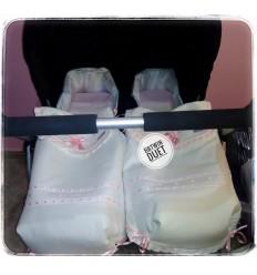Colchas de Capazo bbtwin duet (rosa, celeste, beige, cámel, gris...)