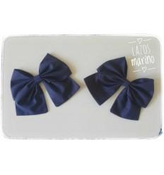 Moñas de Capota Azul Marino: Pareja de lazos
