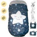 Sacos Para Silla de Paseo Estrella Sonriente Corazones Azules