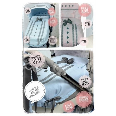 Silla y capazo y grupo 0: capotas, bolsos, sacos, fundas, etc. Modelo 02-17