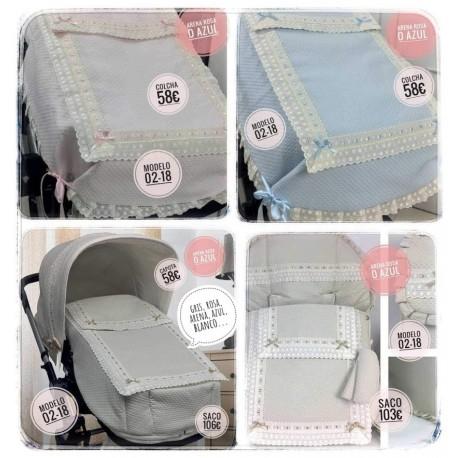 Silla y capazo y grupo 0: capotas, bolsos, sacos, fundas, etc. Modelo 02-18