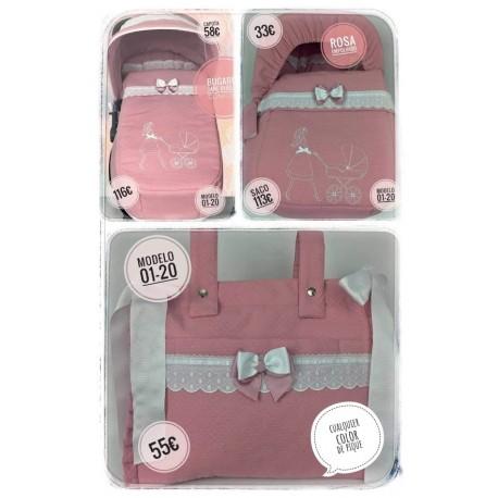 Silla y capazo y grupo 0: capotas, bolsos, sacos, fundas, etc. Modelo 02-20