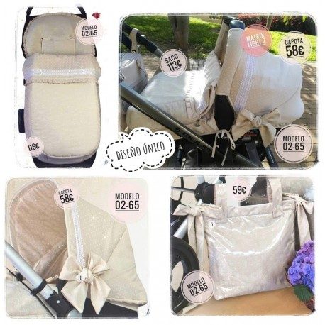 Silla y capazo y grupo 0: capotas, bolsos, sacos, fundas, etc. Modelo 02-65