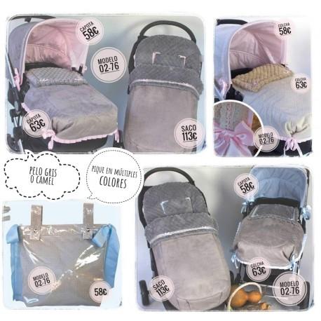 Silla y capazo y grupo 0: capotas, bolsos, sacos, fundas, etc. Modelo 02-76