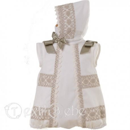 a0defb3bd Trajes de bautizo niño  Pelele con capota incluida - Textil Bebé
