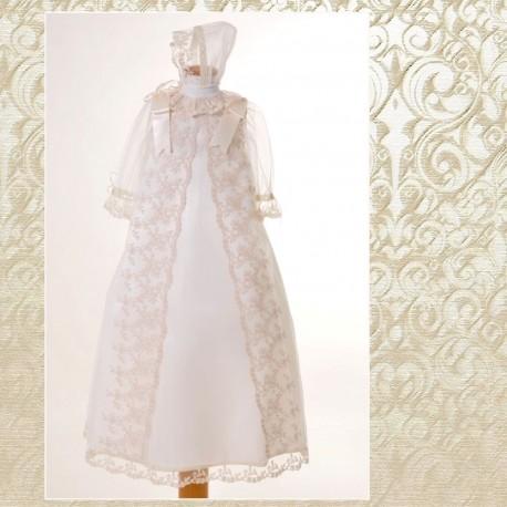 34c01552a Faldon y capota de Cristianar en Tul Bordado con Capota - Textil Bebé
