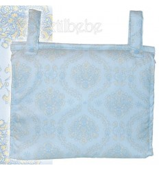 Bolso Silla|Cochecito Plastificado Damasco Azul
