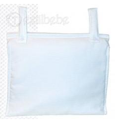 Bolso Silla|Cochecito Plastificado Creta Blanco