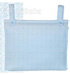 Bolso Silla|Cochecito Plastificado Bonny Azul