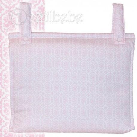 Bolso Silla|Cochecito Plastificado Bonny Rosa
