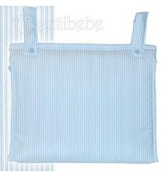 Bolso Silla|Cochecito Plastificado Lista Azul