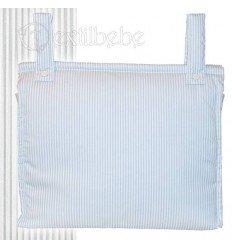 Bolso Silla|Cochecito Plastificado Lista Gris