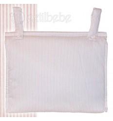 Bolso Silla|Cochecito Plastificado Lista Rosa
