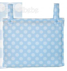 Bolso Silla|Cochecito Plastificado Circles Azul