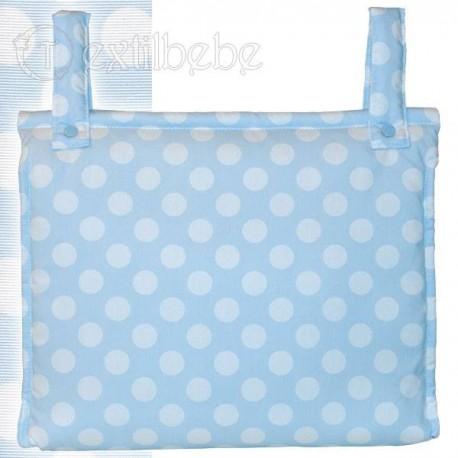 Bolso Silla Cochecito Plastificado Circles Azul