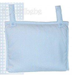 Bolso Silla|Cochecito Plastificado Cuadro Azul